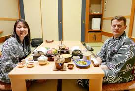 traditional japanese dinner table japan travel dining at a ryokan pechluck s food adventures