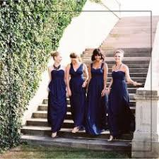 bridesmaid dress infinity dress navy blue floor length wrap