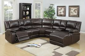 leather u0026 fabric reclining sectionals