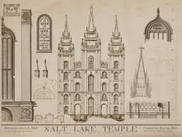 Lds Temple Floor Plan Salt Lake City Temple Blueprints 1856 Art Drawings Of Salt