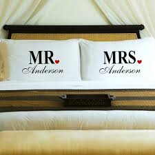 personalized home decor gifts personalized couples pillow case set u2013 mr u0026 mrs u2013 personalized