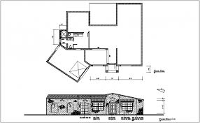 architectural floor plan floor plan and elevation view of house dwg file