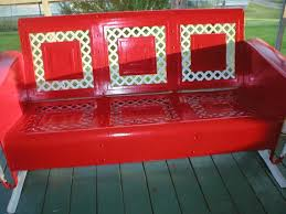 vintage metal porch glider piecrust fresh enamel paint 400 picmia