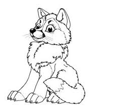 how to draw a baby wolf pencil art drawing