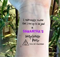 bachelorette tattoo bachelorette party tattoo harry potter