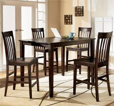 contemporary dinette decoration with hyland 5 piece dark brown
