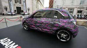 vauxhall adam vauxhall adam art cars unveiled in london video