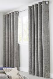 buy silver textured chenille eyelet curtains from the next uk