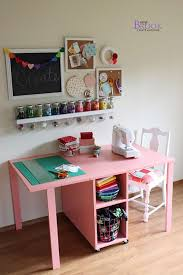 Pink Craft Room - 50 craft rooms a and a glue gun