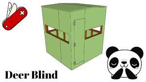 deer blind plans youtube