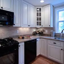 Kitchen With Black Cabinets Black Refrigerator White Cabinets On White Kitchen With Black
