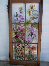 Home Windows Glass Design Painted Vintage Window Ma Maison Ses Détails Pinterest
