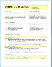 Resume Template Sample by Professional Resume Template Free