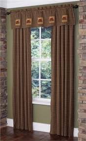 Cabin Valances Rustic Cabin Lodge Curtains And Drapery