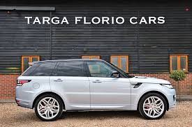 land rover silver land rover range rover sport 5 0 v8 supercharged autobiography in