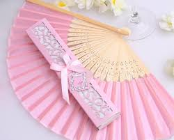wedding fan favors to brazil personalized pink white black luxurious silk fold