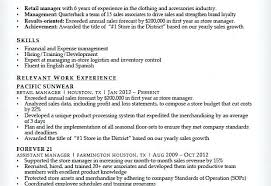 Resume Objective For Retail Sales Associate Forever 21 Resume Sample Sales Associate Resume Sample Forever 21