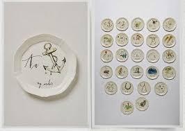 linea canapé linea carta calligrapher canape plates