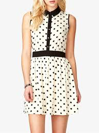 polka dot dress black and white black trim peter pan collar