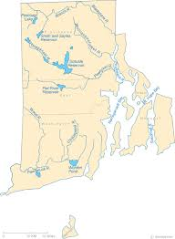 map rhode island map of rhode island lakes streams and rivers
