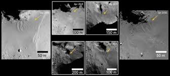 and after unique changes spotted on comet 67p churyumov gerasimenko