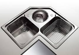 lavello angolare angolare con scola pasta e verdura 3 vasche due grandi e una