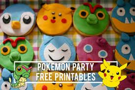 pokemon party free printables maxabella loves