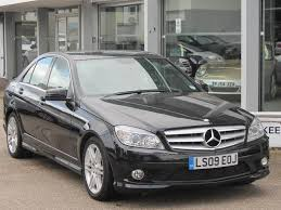 used mercedes co uk used black mercedes 2009 diesel class c200 cdi sport saloon