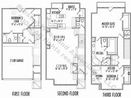 narrow house plan 3 story house plans home design 3 bedroom 2 story house