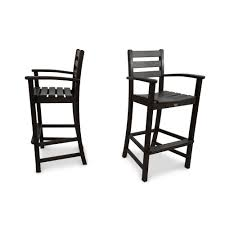 Black And White Patio Cushions by Outdoor Bar Stools Outdoor Bar Furniture The Home Depot