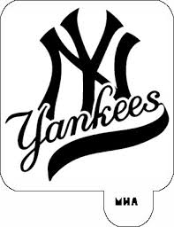 mr hair art stencil new york yankees logo