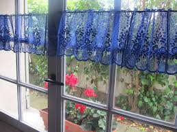 Blue Curtain Valance Kitchen Curtain Toppers Valances Decorate The House With