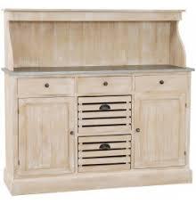 porte de cuisine en bois de cuisine bois exotique blanchi plateau zinc 2 portes 5 tiroirs