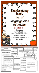 thanksgiving language arts activities activities
