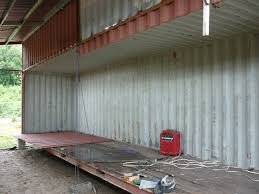 Half Wood Wall by How To Cut Shipping Container Walls A Shipping Container House