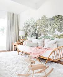 how to style a twin bed like a sofa or daybed emily henderson emily henderson nursery reveal blush green