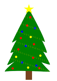 christmas tree with lights clipart christmas tree with lights
