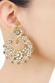 art karat presents gold finish kundan stones and baby pearls
