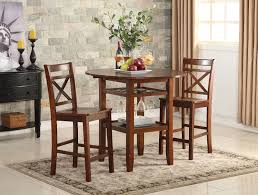counter high dining room sets acme tartys counter height dining set 2 chairs nuke breakfast