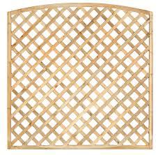 arched framed diagonal trellis 180cm
