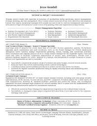 technical it project manager resume sample technical project