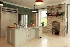 french country kitchen decorating with painted island painted larder and kitchen island in old white millennium cream