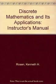 discrete mathematics and its applications instructor u0027s manual