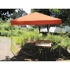 pop up canopy hd straight leg 10 x 10 ft orange