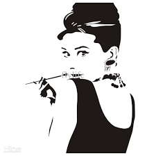 Removable Wall Decals For Bedroom Audrey Hepburn Portrait Vinyl Removable Wall Stickers Home Art