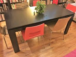 cb2 meridian extension dining table w 2 leaves in bedford