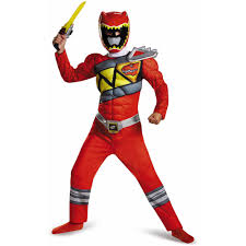 police costume for halloween red power ranger dino charge classic muscle child halloween