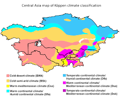 Mediterranean Climate Map Central Asia Map Of Köppen Climate Classification Maps