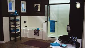 blue and black bathroom ideas great black bathroom remodels with white half tile decor and