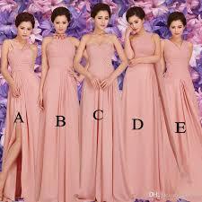 pink bridesmaid dresses 2015 new summer pink bridesmaid dress length
